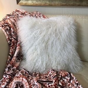 West Elm Sheep Fur Square Pillow